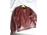 Red Skins Men's Leather Jacket size L