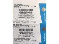 Robbie Williams Tickets Southampton 6th June Seated