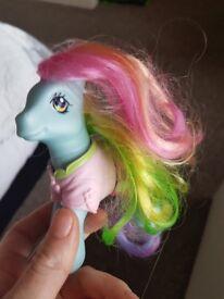 My little pony rainbow dash original and clothes