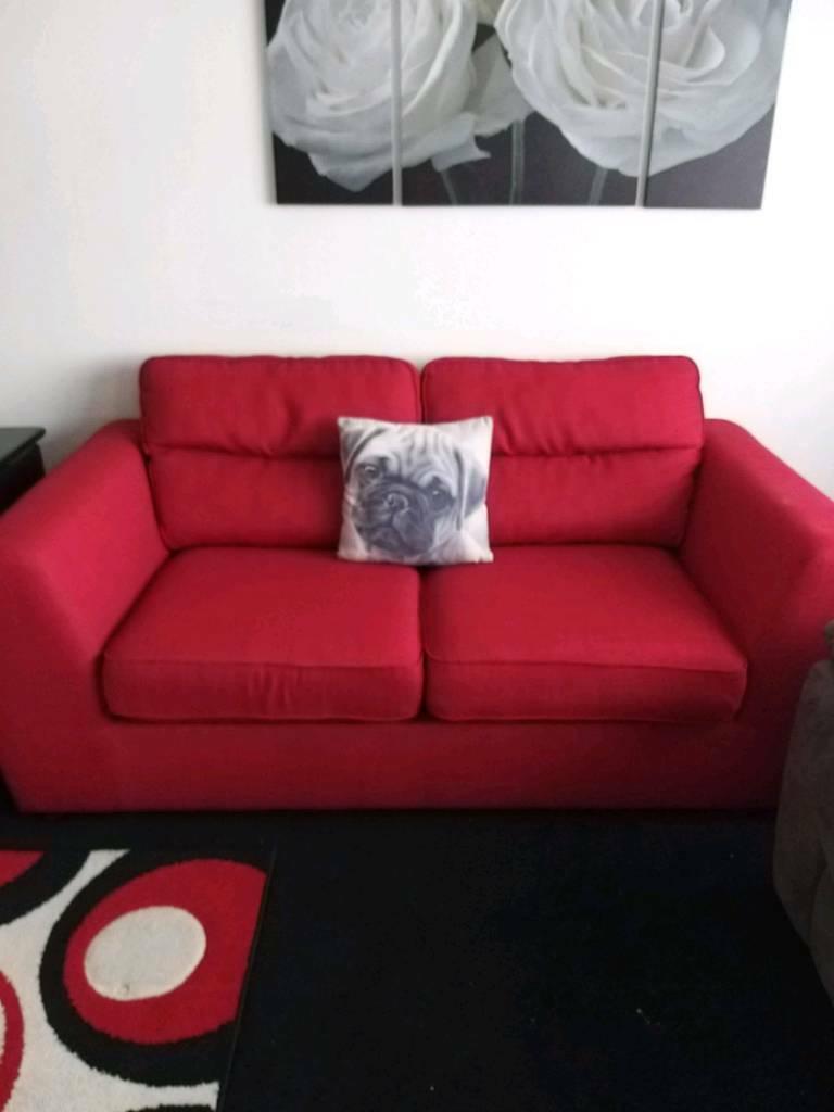 Astonishing Dfs Red Sofa Bed In Eastbourne East Sussex Gumtree Inzonedesignstudio Interior Chair Design Inzonedesignstudiocom