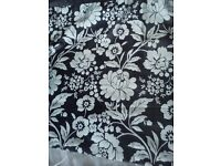 Black and silver double duvet with matching 3 tier lihtshade for sale