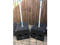 SMARTSOUND 300w Passive sub bass bins