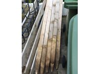 20 x 4x4 6ft fence posts and Quantity of rylock fencing