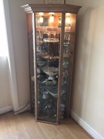 Glass Display Unit Oak Colour