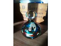 Mdina glass signed vintage paperweight
