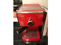 Philip's Saeco coffee machine and Bodom coffee bean grinder.