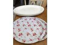 Mixture of serving trays - new lower price