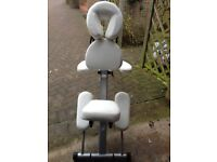 Upright massage chair