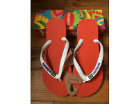 Havaianas Mens Brasil Brazil Logo Flip Flops/Sandals Pumpkin Orange Size UK 9-10 EUR 45-46 BRA 43-44
