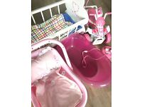 Baby Doll Accessories - Baby Born Quad bike, ELC cot, bath and car seat