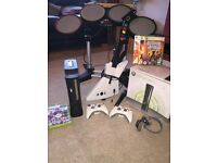 Xbox 360 Elite 120GB + Guitar Hero Equipment+ Games