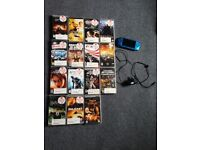PSP 3003 latest wifi model, blue, with charger and 2GB memory stick and 15 games/films