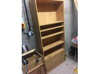 Book Shelf Large with 2 TV tables Set of 3