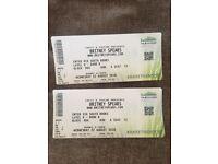 Britney Spears- Glasgow- 22 August 2018 Front Row tickets x2