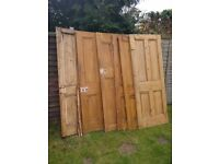 Six Victorian 4 panel Doors