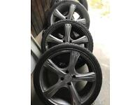 """18"""" 4 stud alloys with low profile tyres"""