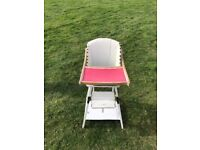 Retro Vintage Highchair Multifunction Play Chair