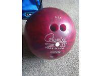 TEN PIN BOWLING BALL WITH BAG