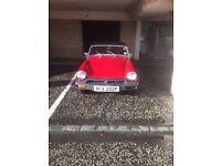 MG Midget 1500 - 1976 registration - Red, wire wheels, good roadworthy condition - great runaround