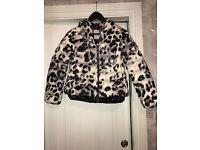 Children's real leopard print moncler coat