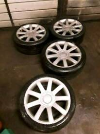 Vw / Audi multifit 18 inch r32 style , good tyres, £195 onvo