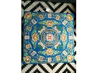 Blue Chinese hand painted floral coffee table