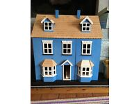 Blue and white large Doll House