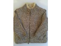 Boys Beige Furry Winter Top From NEXT - Age 2-3 - Excellent condition - Childrens Kids Clothes