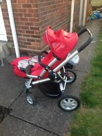 Baby Pram ,Baby Bath & Nappy Bin . £50