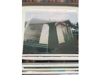 12 foot cRavan awning comes with skirt and curtains