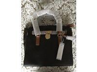 "Michael Kors ""Hamilton"" brown satchel bag"