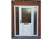 UPVC DOUBLE GLAZED FRONT DOOR WITH SIDE PANELS 160cm WIDE 206cm HIGH Can Deliver