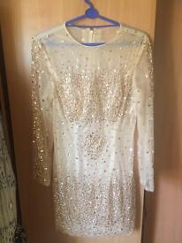 Sequin infrusion dress. Size 14