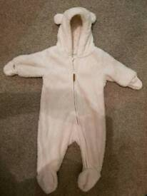 Cream H&M Baby All in one - Teddy Bear Style