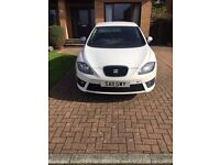 2011 WHITE SEAT LEON FR (170), WITH LEATHER HEATED SEATS
