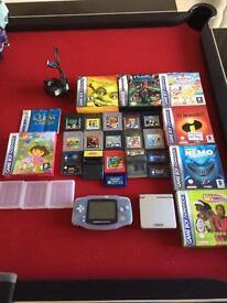 Nintendo Gameboy Advance console and games bundle including Pokemon etc