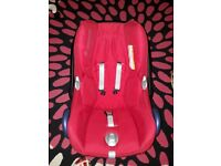Maxi Cosi baby car seat with pushchair adaptors