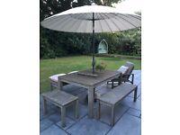 John Lewis Garden Furniture Set. (Croft Bilbao Range)