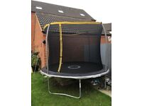 Sports power 10ft Trampoline with Enclosure in very good condition