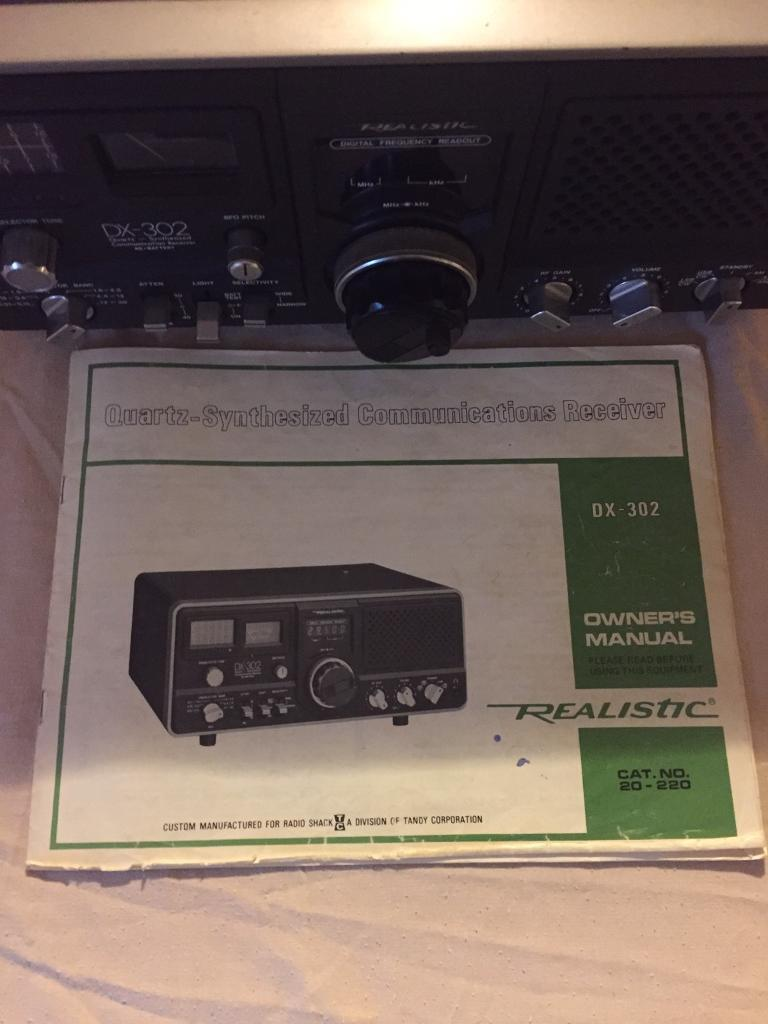 Realistic DX302 communications receiver