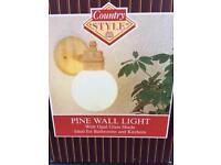 Pine wall light