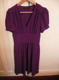 Lovely Jasmine Guinness Purple Size 8 Two Piece Tea Dress