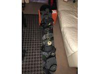 Imperium Militia Ghetto Snowboard 153cm w/ Burton Custom Bindings