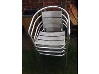 4 alloy garden chairs £35 the lot