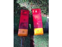 Pair of caravan complete tail light units , selling cheap to clear garage