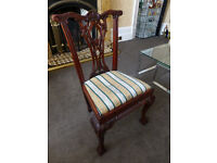 1 BEAUTIFUL ROSE WOOD CARVED DINING TABLE CHAIR