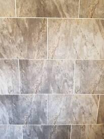 10 Large Grey Bathroom Tiles