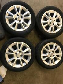 "Vauxhall 4x100 sport 16"" alloys with tyres"