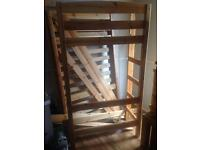 Solid pine single high sleeper bed