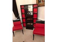 Silva brand Drinks cabinet with matching two chair.